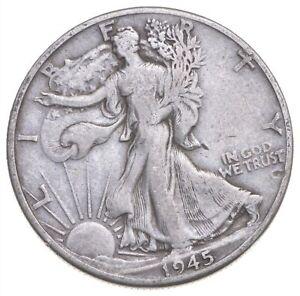 1945-D Walking Liberty 90% Silver US Half Dollar *197