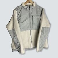 The North Face - Vintage Ladies Cream And Grey Zip Up Denali Fleece - Size XL
