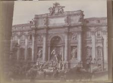 Italie, Rome, Fontaine de Trévi, 1898, Vintage citrate print Vintage citrate pri
