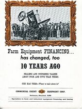 1966 Print Ad of Commercial Credit Equipment Corp CCEC old tractor tipping over