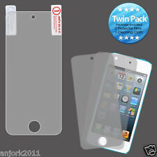 Apple iPod Touch 5 Clear Screen Protector Twin Pack + Cloth Accessory