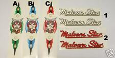 Malvern Star decals Choice of styles vintage road/path