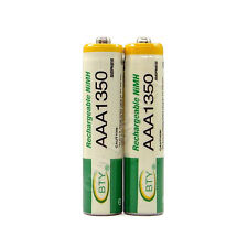 2 x AAA 3A 1350mAh Ni-MH 1.2V Volt Rechargeable Battery Green BTY LR03 R03