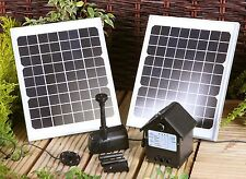 409 Gph Solar Power Outdoor Fountains Pond Water Pump Panel Kit Leds Garden Yard