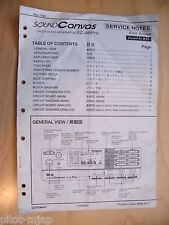Roland ~ SoundCanvas Midi Sound Generator SC-88Pro  ~ Owners Manual