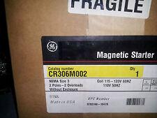 G.E. CR306M002 NEW IN BOX SIZE 3 2 POLE 120 VOLT COIL CONTACTOR #A6