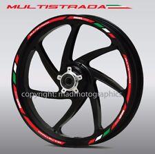 Ducati Multistrada 950 1200 wheel decals stickers rim stripes Laminated Red