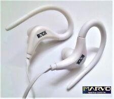 Auriculares Deportivos Ajustables Con Microfono - Serie Sport - Silicona - White