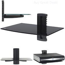 Tv Wall Mount Shelf 1 Tier Dual GLASS Under TV Accessories DVR DVD Games BRACKET