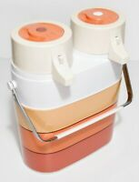 Tupperware Vintage Twin Airpot Pump Hot Cold Insulated Vacuum Flasks MCM Works