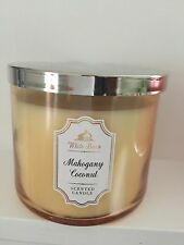 Bath And Body Works White Barn Mahogany Coconut  3 Wick Candle