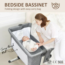 Sleeper Baby Bassinet Cot Crib Bedside Adjustable Height Wmattress & Carry Bag