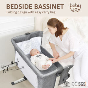 Baby Bassinet Cot Crib Bedside Co Sleeper Infant Newborn Bed Portable Cradle