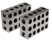 "2Pcs 1-2-3 BLOCK SET 0.0001"" Precision Matched Mill Machinist 123  BL-123"