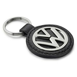 Volkswagen Key Ring Keychain Logo Keyring Metal-Leather