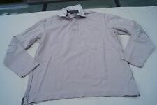 BRAX Golf Herren Men Polo Shirt Poloshirt langarm Gr.L creme Ellbogen Patches