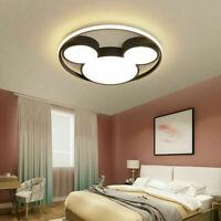 Modern Cartoon Mickey LED Ceiling Light Kid's Room Indoor Semi Flush Mount Lamp