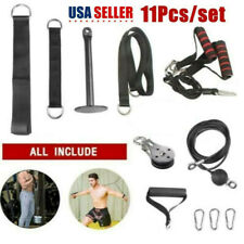 DIY Fitness Pulley Cable Gym Workout Equipment Machine Attachment System Home US