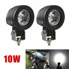 2Pcs 10W Motorcycle Motorbike LED Spot Fog Lights Beam Headlight Driving Light
