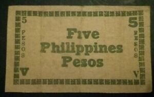 PHILIPPINES 5 Pesos Banknote 1944