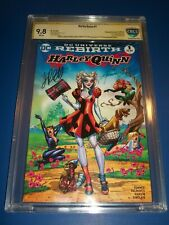 Harley Quinn #1 Rebirth Variant CBCS 9.8 NM/M SS 2x Signed Conner Palmiotti CGC!