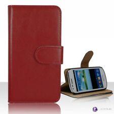 Fundas y carcasas color principal rojo de piel sintética para teléfonos móviles y PDAs Samsung