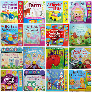 Multi-Sound Book Bundle Birthday gifts interactive Autism friendly NEW