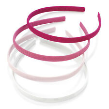 4 Alice Bands Pink Colours Headband Hair Band Aliceband Set Womens Girls Kids