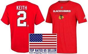 Duncan Keith #2 Chicago Blackhawks Adidas Youth T Shirt XL 18/20 NHL Authentic