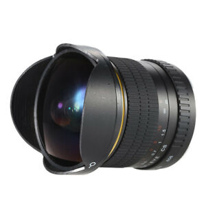 Digtal Camera Lens Fish-Eye Lens Ultra Wide-angle 8mm/F 3.5 For Canon Nikon APS