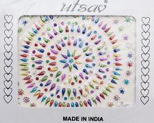 Bindi pastel bijoux de peau strass tatoo autocollant front big pack INH 584