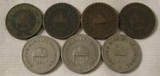 7 ANTIQUE 1894 - 1908 HUNGARY / MAGYAR COINS  2 FILLER (4)  and  10 FILLER (3)