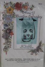 The Victorian/Extra Toilet Paper Holder Anna G Brazilian Embroidery Ag4111 White