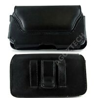 PU Leather Sideways Horizontal Belt Clip Case Pouch Cover for LG Cell Phones NEW