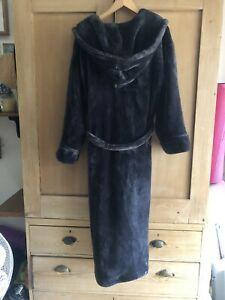 M&S Rosie Supersoft Hooded Dressing Gown, Plush Fleece Bath Robe Bathrobe