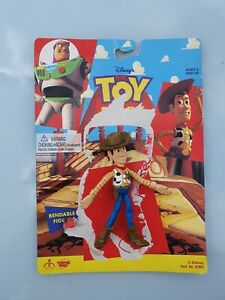 Toy Story Disney / Pixar Bendable Woody Thinkway Toys 11.5 cm Tall Action Figure