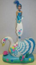 SKY DANCERS LARGE SIZE W/FRICTION MOTOR, BLUE, WHITE, ON SWAN, WORKS, EXC-NMT