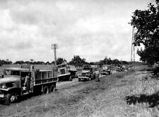 6x4 Gloss Photo ww9A7 Normandy Red Ball Express Convoy