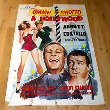 GIANNI E PINOTTO A HOLLYWOOD poster manifesto Abbott Costello Show Girls 1945 G3