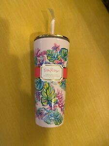 Lilly Pulitzer Mermaid In Shade Tumbler with Straw