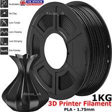 Impresora 3D Negra filamento Pla 1.75mm diámetro 1KG Carrete PETG/Pla/Pla + Reino Unido
