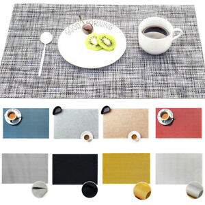 Rectangle Braided Thick Insulation Pad Tableware Mats Non-Slip Placemats Decor