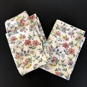 Pair Vintage Springmaid 2 Standard Pillowcases Pink  No Iron USA Made Cottage