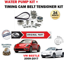 FOR VW BEETLE + CONVERTIBLE 1.6 2.0 TDi 2009-2017 TIMING BELT KIT + WATER PUMP