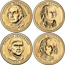 2007 P&D Set of Presidential Dollar Coins 8 Coins from U.S. Mint Rolls Money