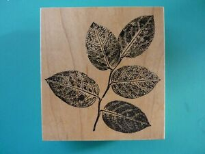 Realistic Leafy Branch, Large Rubber Stamp