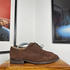 Mens REISS LONDON CLARKSON Suede Smart Casual Derby Shoes - Brown - US8/UK7/41