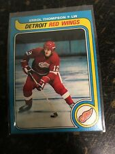 TOPPS HOCKEY 1979-80 ERROL THOMPSON CARD 106 DETROIT RED WINGS EXCELLENT