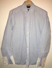 """Blue Shirt Collar 14.5"""" Autograph<NH8019"""