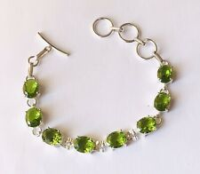 Stunning Peridot  925 Silver Bracelet